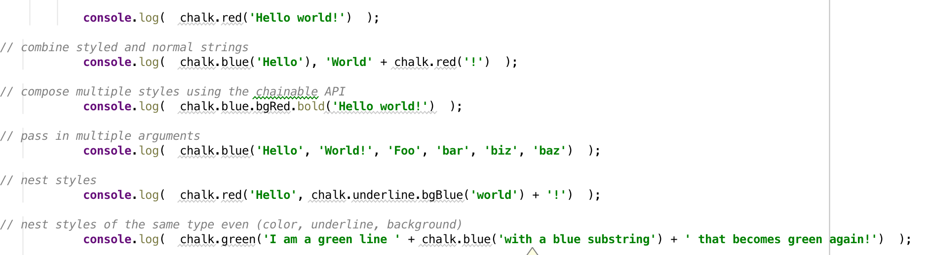 Meteor Js: Colorize your console with Chalk. \u2013 Nice Package \u2013 www